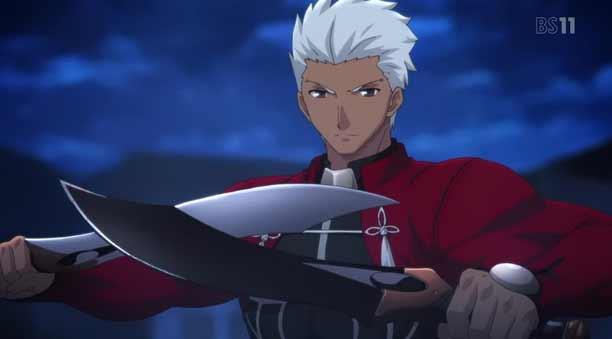 Karakter Anime Pengguna Pisau - Archer Emiya