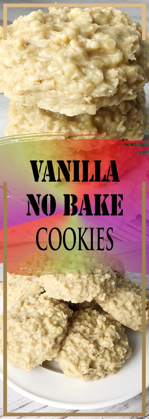 VANILLA NO BAKE COOKIES RECIPE