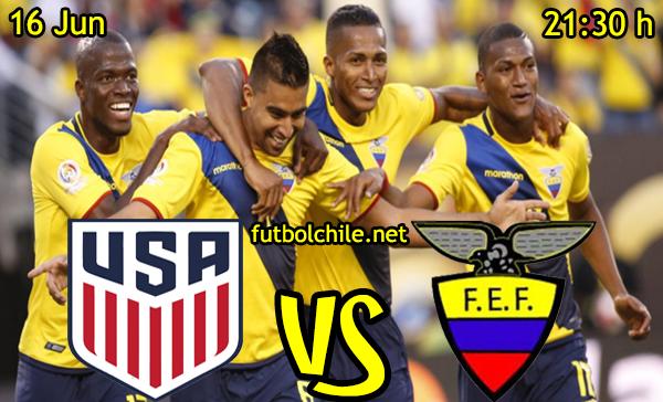 VER STREAM RESULTADO EN VIVO, ONLINE:  Estados Unidos vs Ecuador