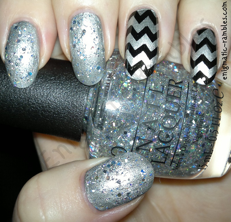 stamped-chevron-glitter-opi-nails