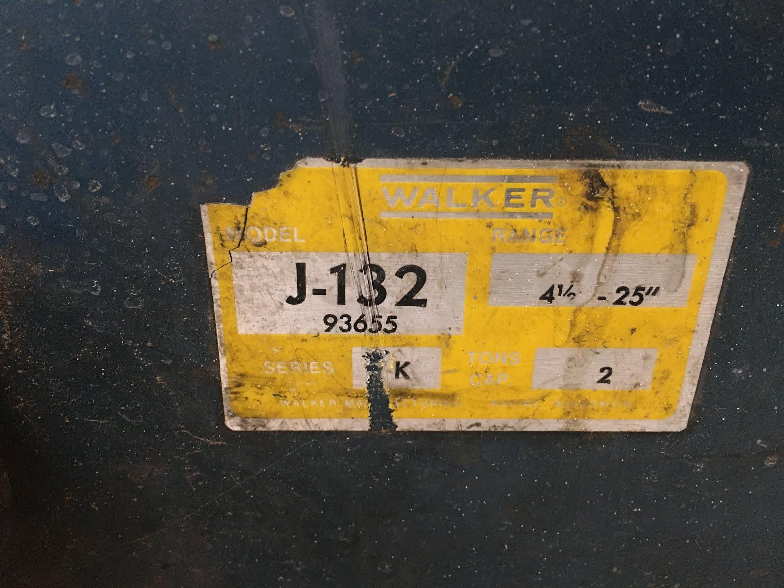 Jared's Garage: Rebuilding a Walker 2 ton floor jack J-132 93655