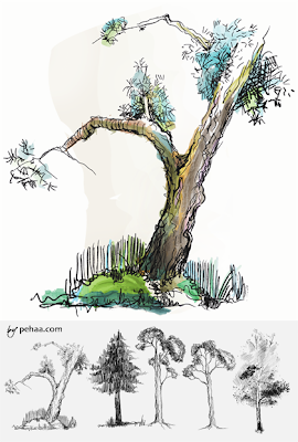 brushes photoshop arboles