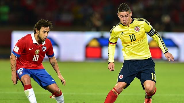 Chile y Colombia en Clasificatorias a Rusia 2018, 12 de noviembre de 2015