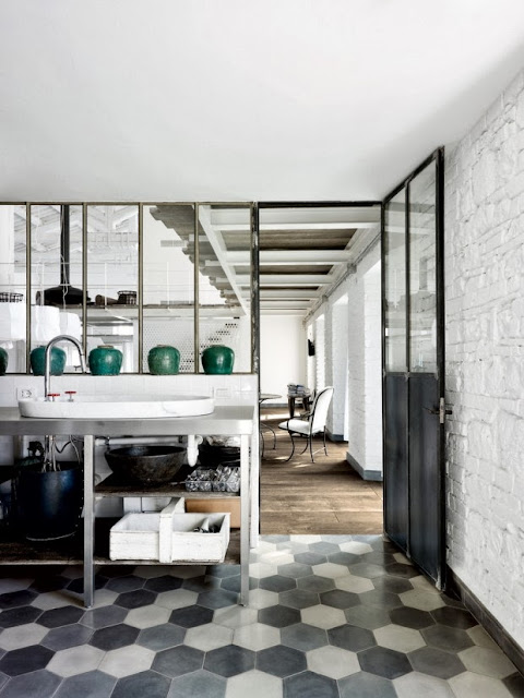 {Interior} Old factory converted to industrial home in Spello by Paola Navone