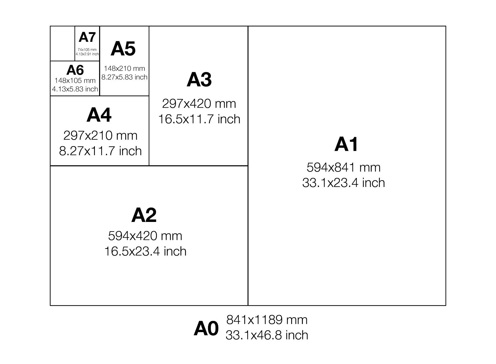 Finalize Print Paper Sizes مقاسات الورق