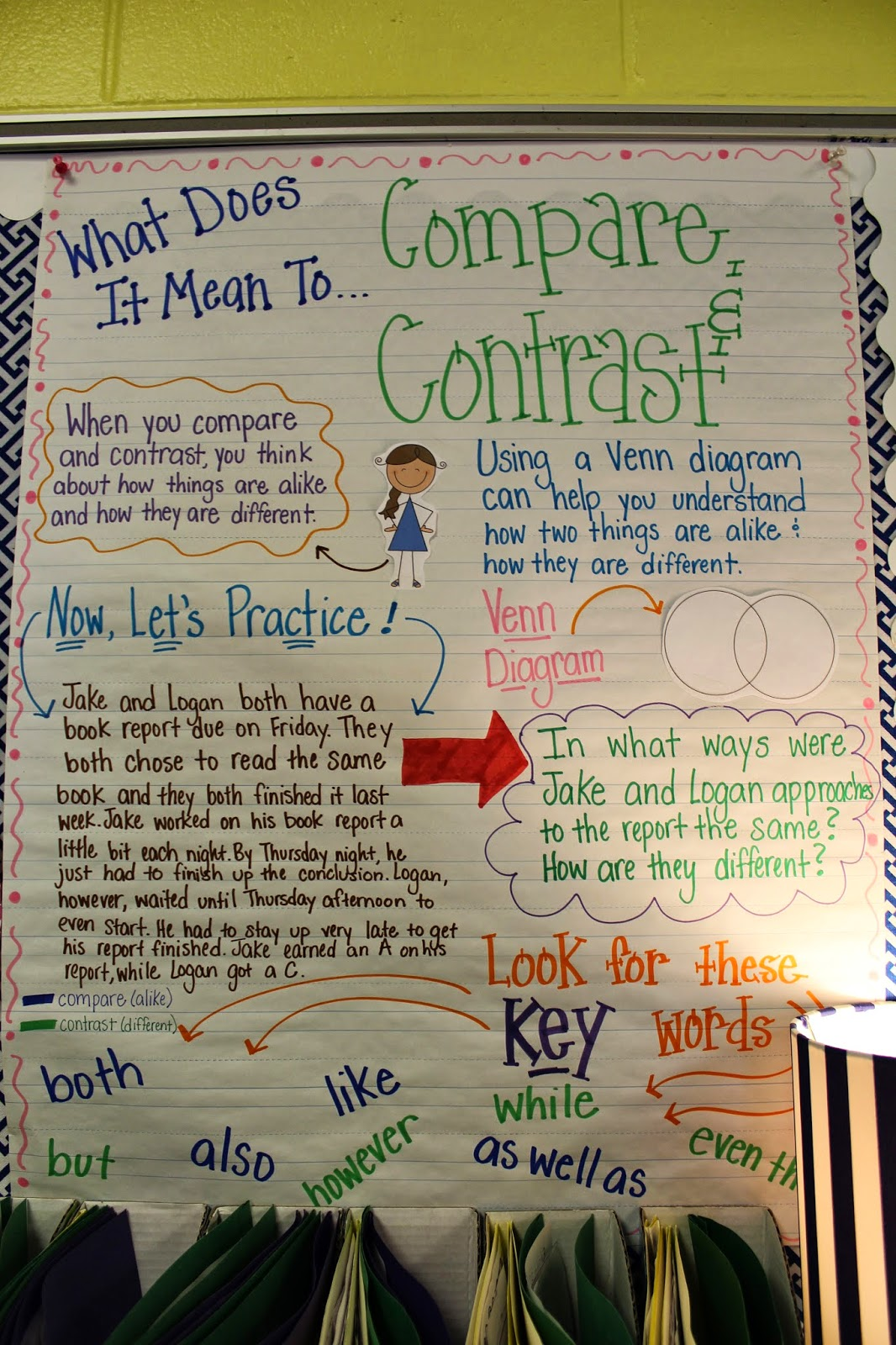 venn diagram bulletin board bryant air conditioning wiring life in first grade: compare and contrast