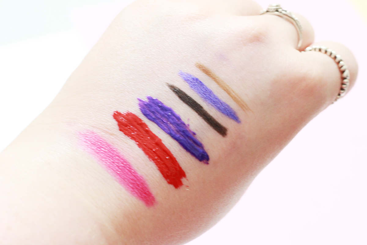 An Image of Models Own Make-up Lip Gunk Swatches