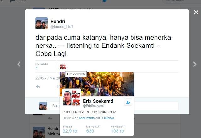 Di retweet Erix Soekamti