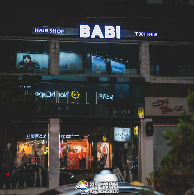 Found a hair salon name called BABI. I guess they meant 'Barbie? =P