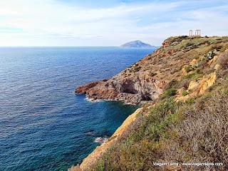 Relato de viagem à Sounio Cape, no litoral grego do Mar Egeu e o Templo de Poisedon, próximo de Atenas, na Grécia.
