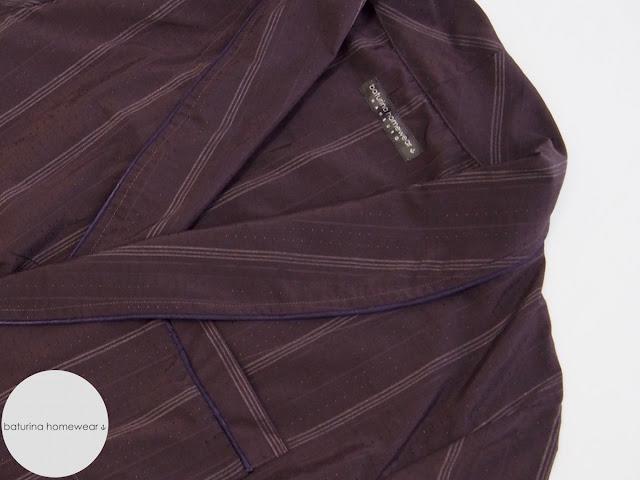 Luxury Burgundy Purple Silk Robe for Men Baturina Homewear.