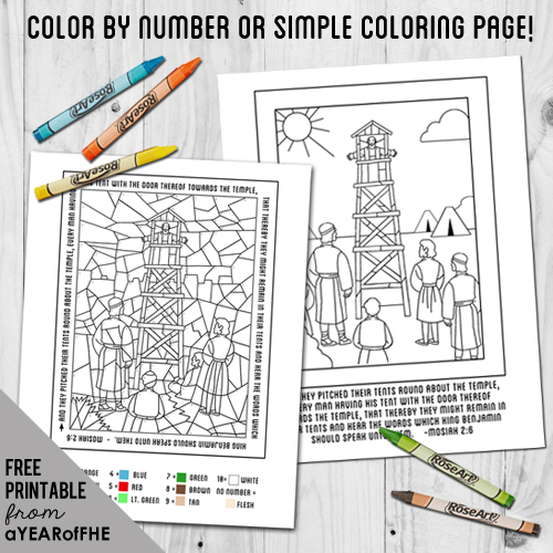COLOR BY NUMBER Or COLORING PAGE Adapted From The Friend Magazine