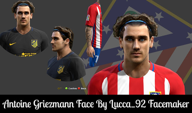 PES 2013 Antoine Griezmann Face by Lucca_92 Facemaker