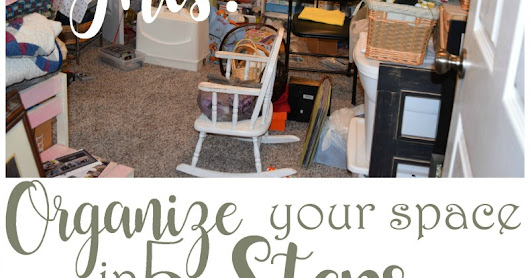 Organize Your Space in 5 Steps {and a tour of my creative space}