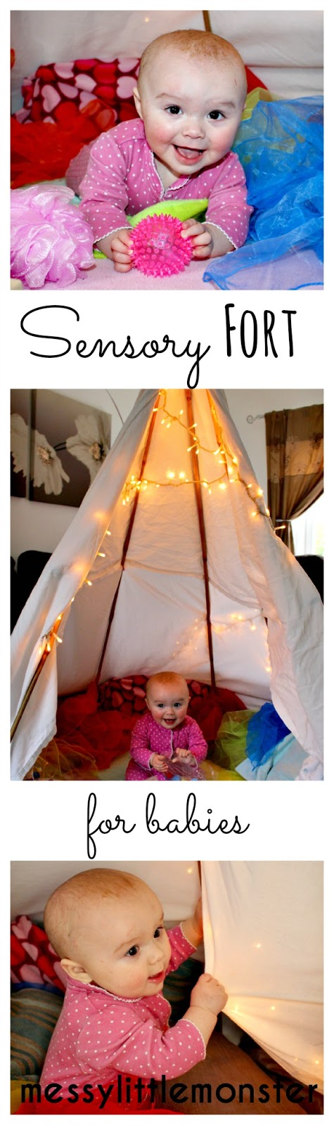 Sensory fort for babies, play spaces