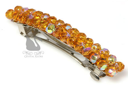 November's Topaz Sparkle Beaded Barrette (HC100)