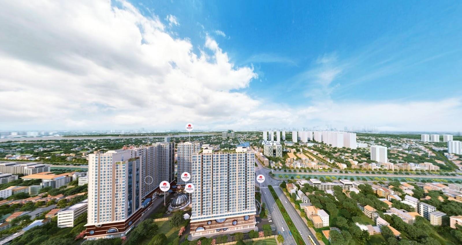 Diện mạo của trục đường Minh Khai dưới góc nhìn từ Hinode City