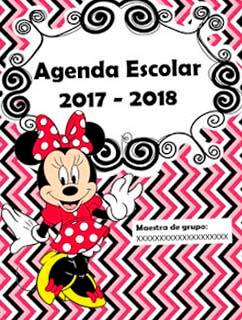 Agenda escolar de minnie mouse editable