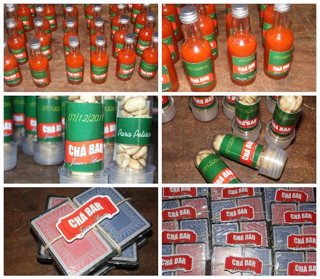 Lembrancinhas Chá Bar - Pimenta, Amendoim e Baralho