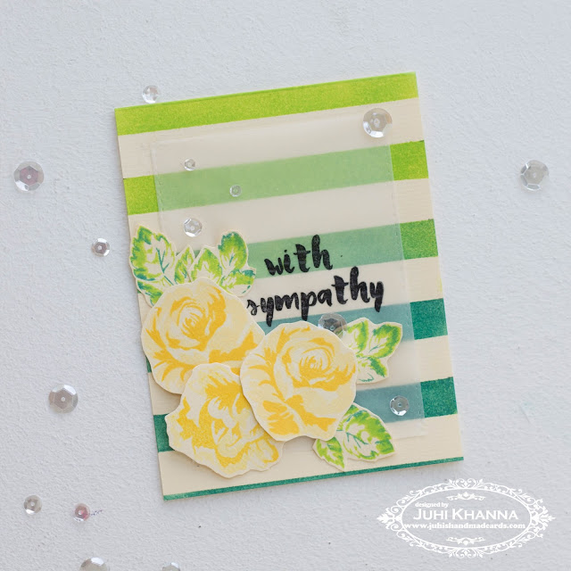 Handmade sympathy card with #altenew stamps