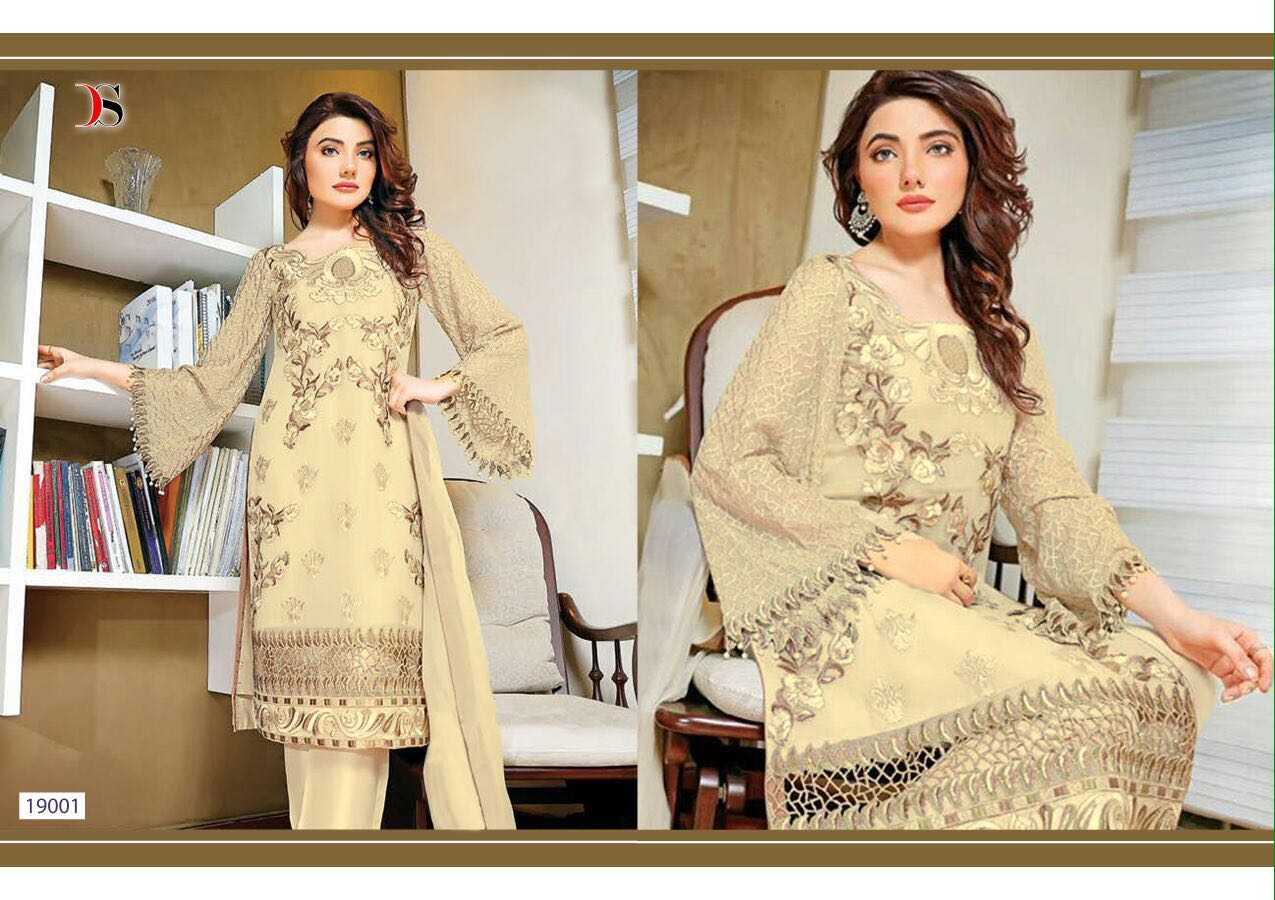 Baroque-2 NX- Stylish Looking Faux Georgette Dress Material