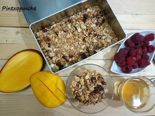 granola recipe, goats, avena, frutos secos, agave, desayunos, recetas sin gluten, dulces, granola