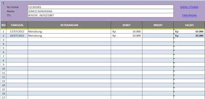 Aplikasi Tabungan Siswa di Sekolah Format Excel Gratis