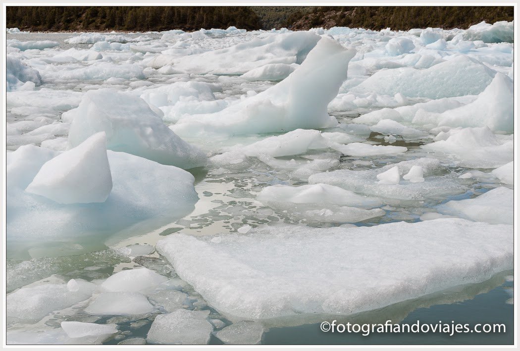 Iceberg del glaciar Serrano en Chile