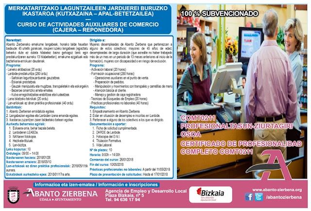 Abanto lanza 10 nuevos cursos para desempleados del municipio