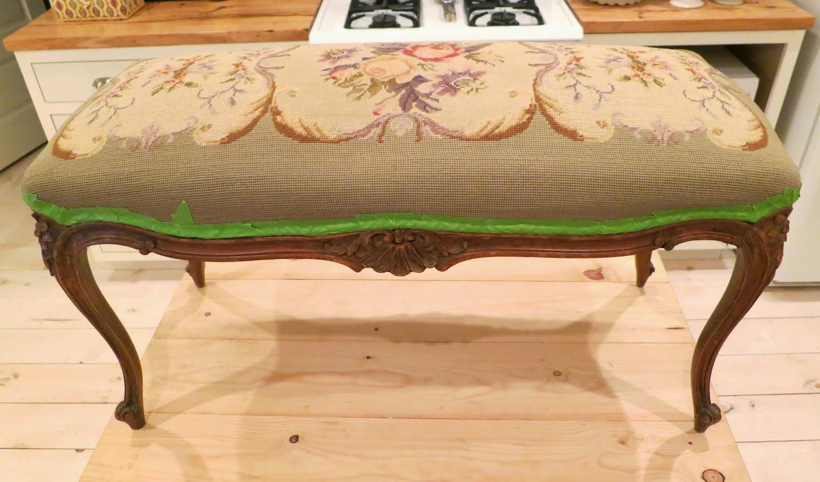 Prime The Cottager Antique Needlepoint Bench Machost Co Dining Chair Design Ideas Machostcouk