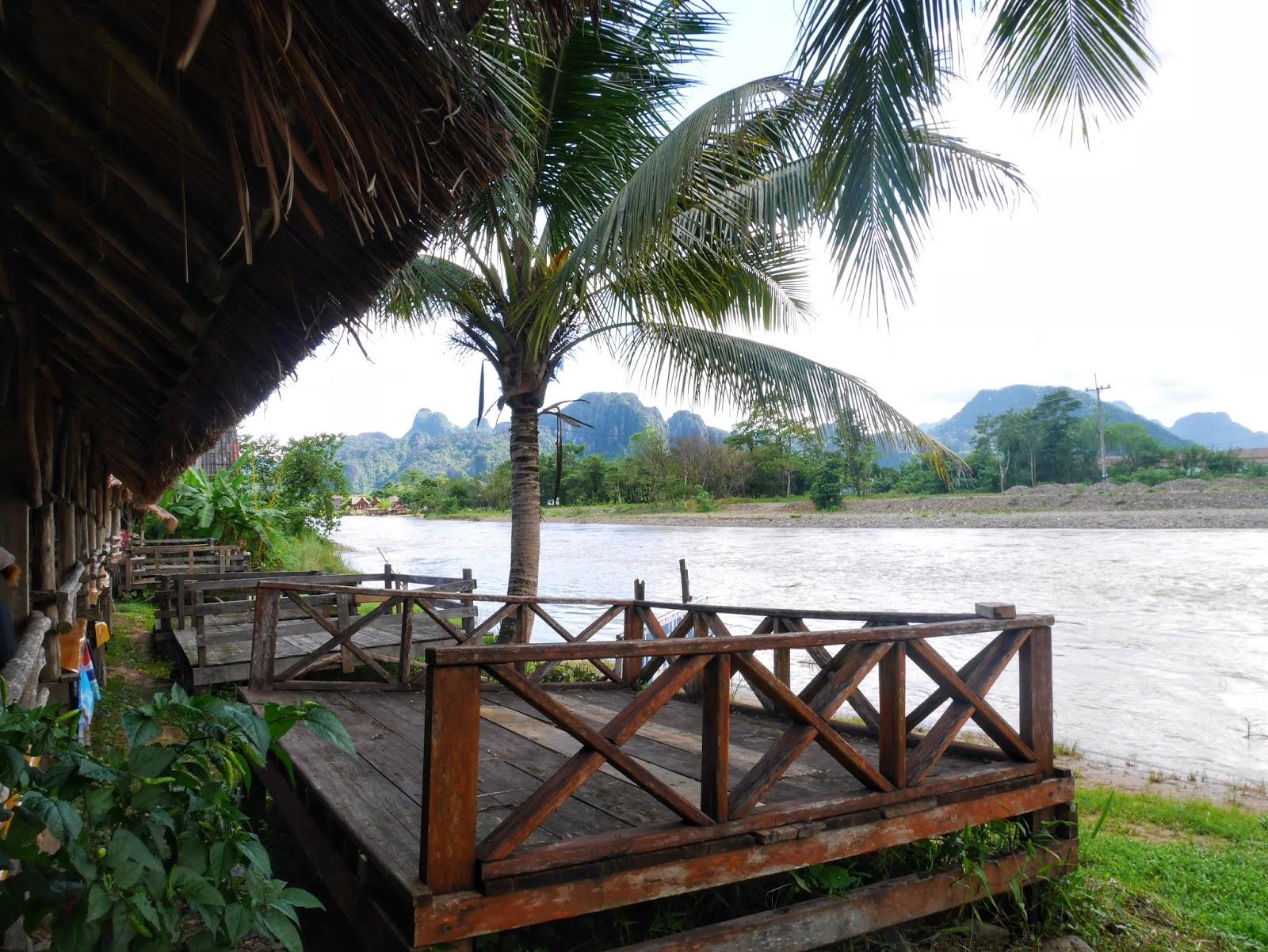 smile beach bar bungalow in vang vieng, laos