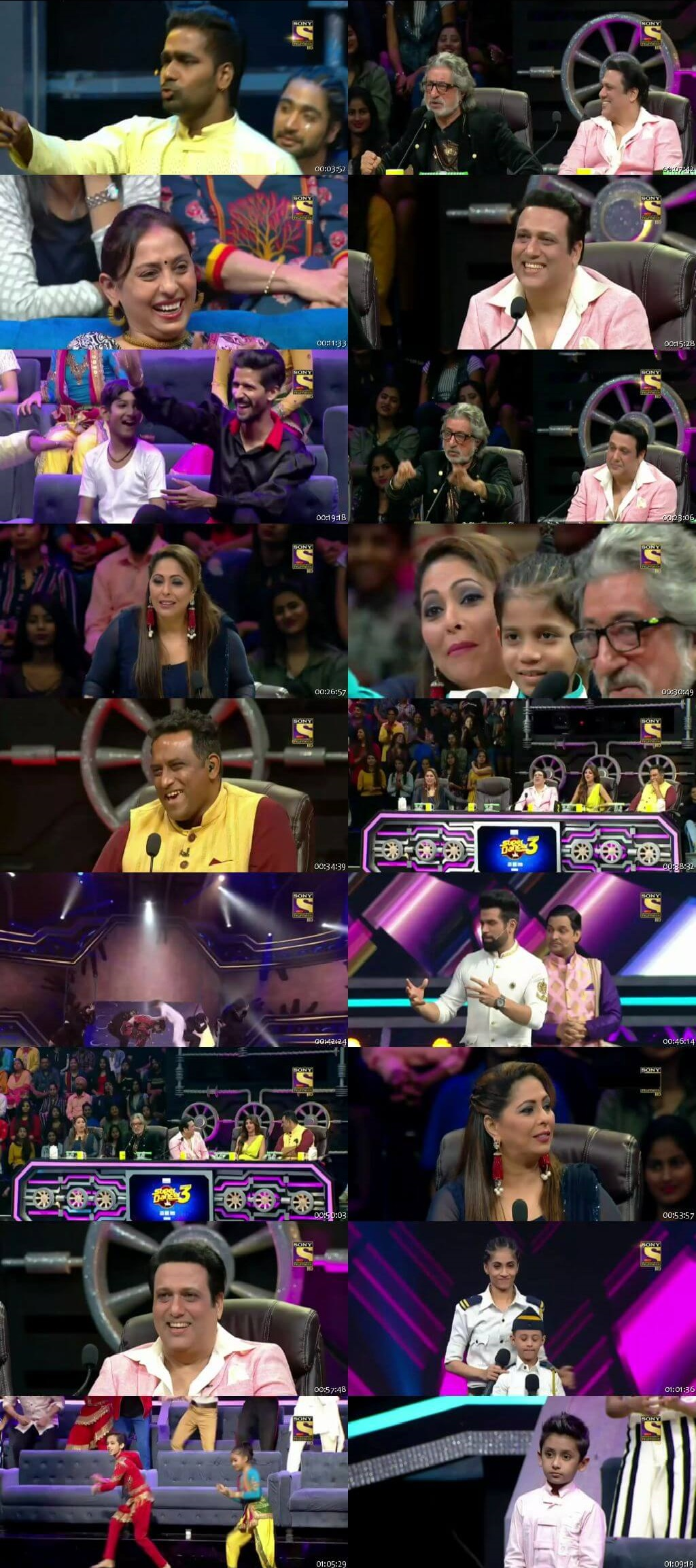 Screenshots Of Hindi Show Super Dancer Chapter 3 24th March 2019 Episode 26 300MB 480P HD