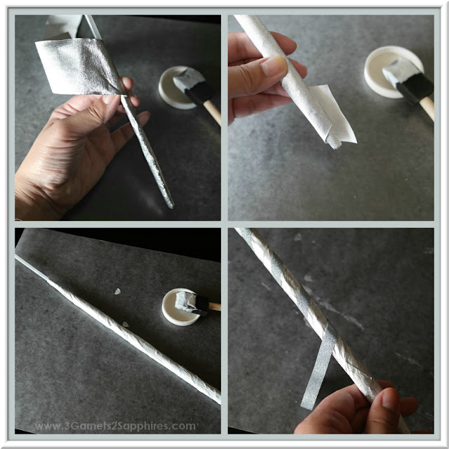 DIY Fairy Godmother Magic Wand Tutorial  |  www.3Garnets2Sapphires.com