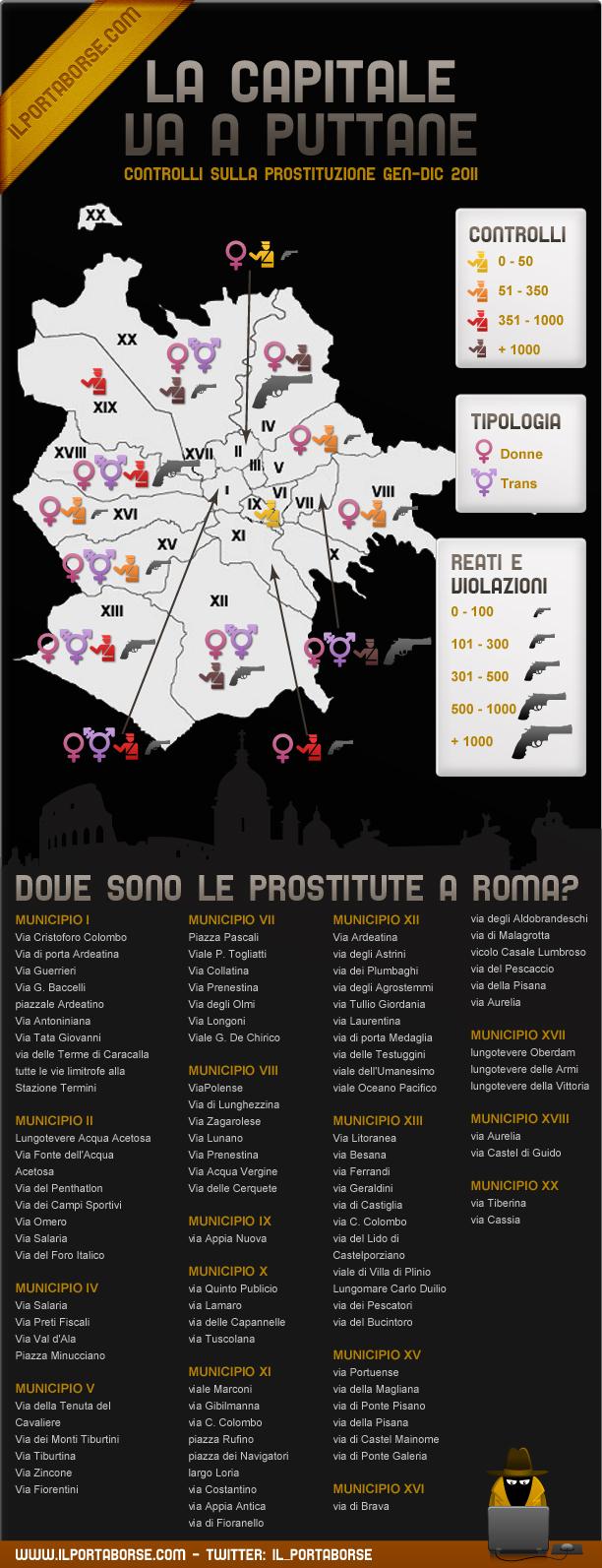 erotici film mappa prostitute roma
