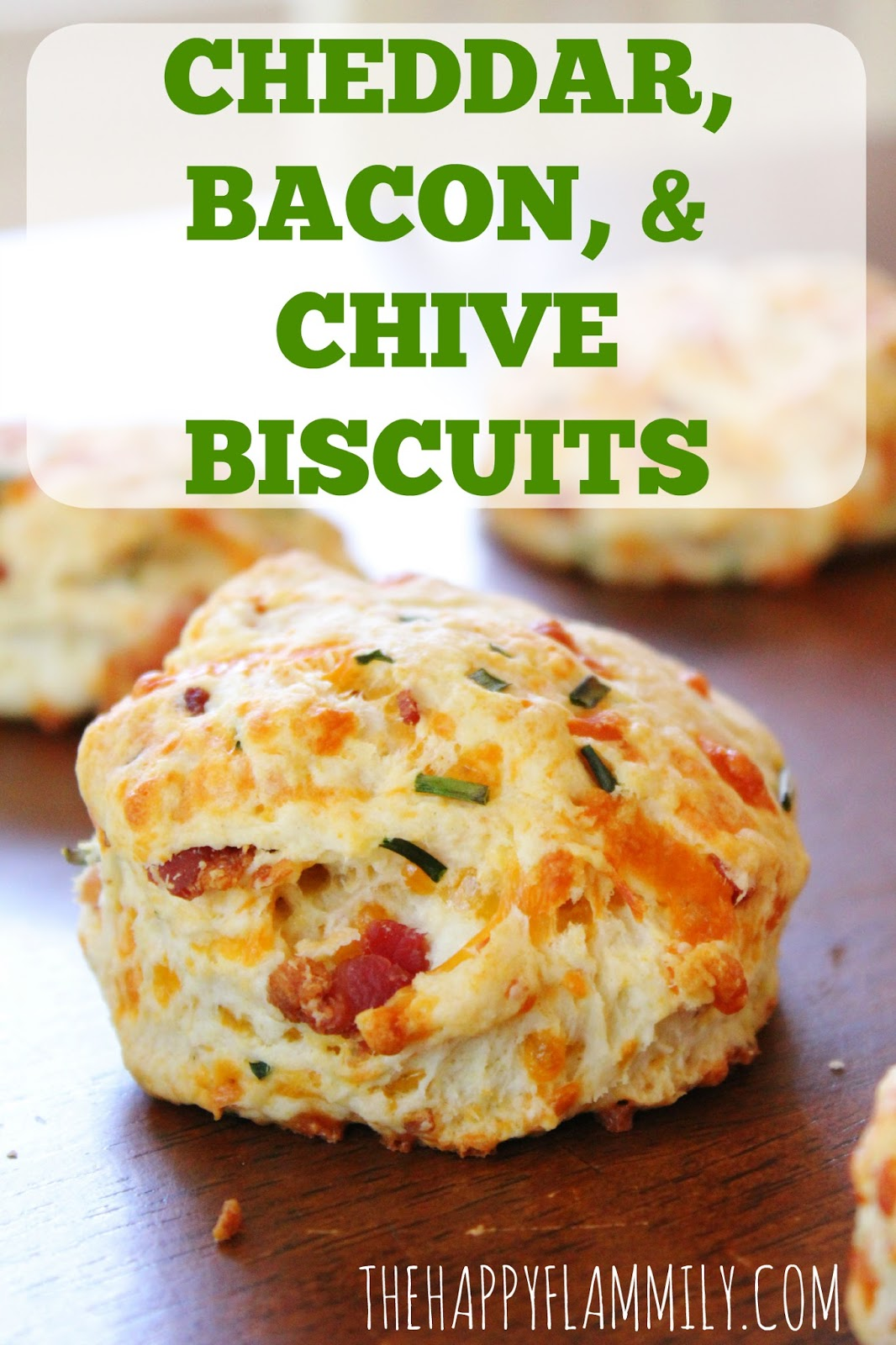 bacon, cheddar, and chive biscuits