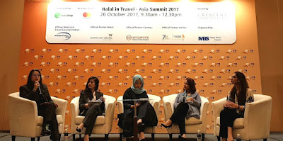 From left: Dr Eunice Tan, Lecturer in tourism, Murdoch University, as Moderator; Q Akashah, Executive Director, Ogilvy Noor, Raudha Zaini, Marketing Manager, HalalTrip, Nisha Abu Bakar, Founder, Elevated Consultancy & Training, and Aisha Islam, VP, Core & Digital Products, Indonesia, Malaysia & Brunei Division, Mastercard.