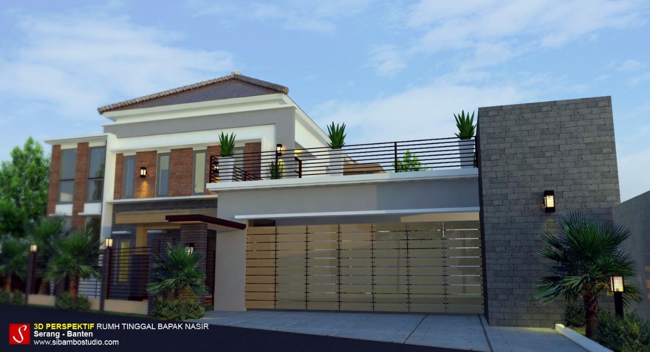 Desain Rumah Tropis Modern 2 Lantai Luas Bangunan 350m2 Sibambo
