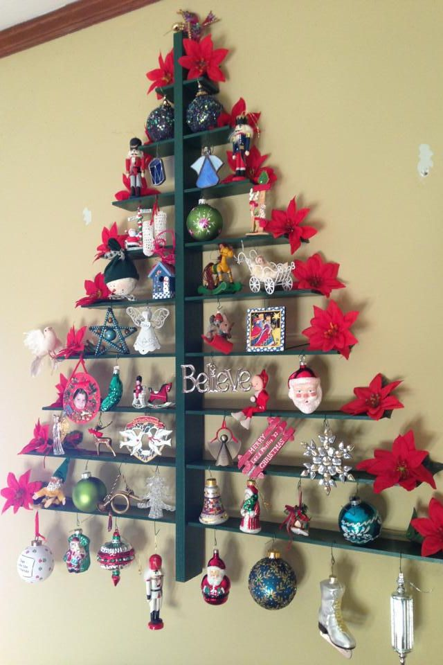 Wall Christmas Trees.How To Recycle Recycled Wall Christmas Trees
