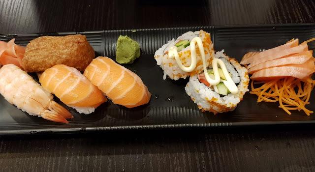 Okami Japanese Restaurant, Camberwell, sushi and sashimi