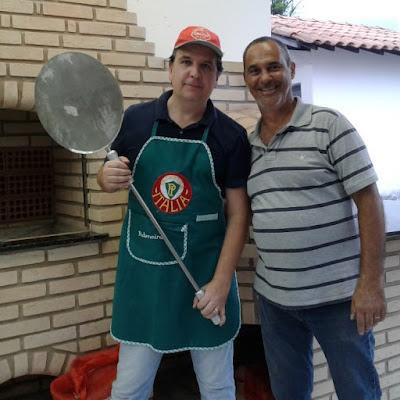 Jean e Edinho: os pizzaiolos da ocasião.