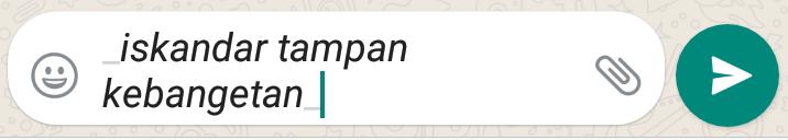 Cara gantinhuruf whatsapp jadi unik