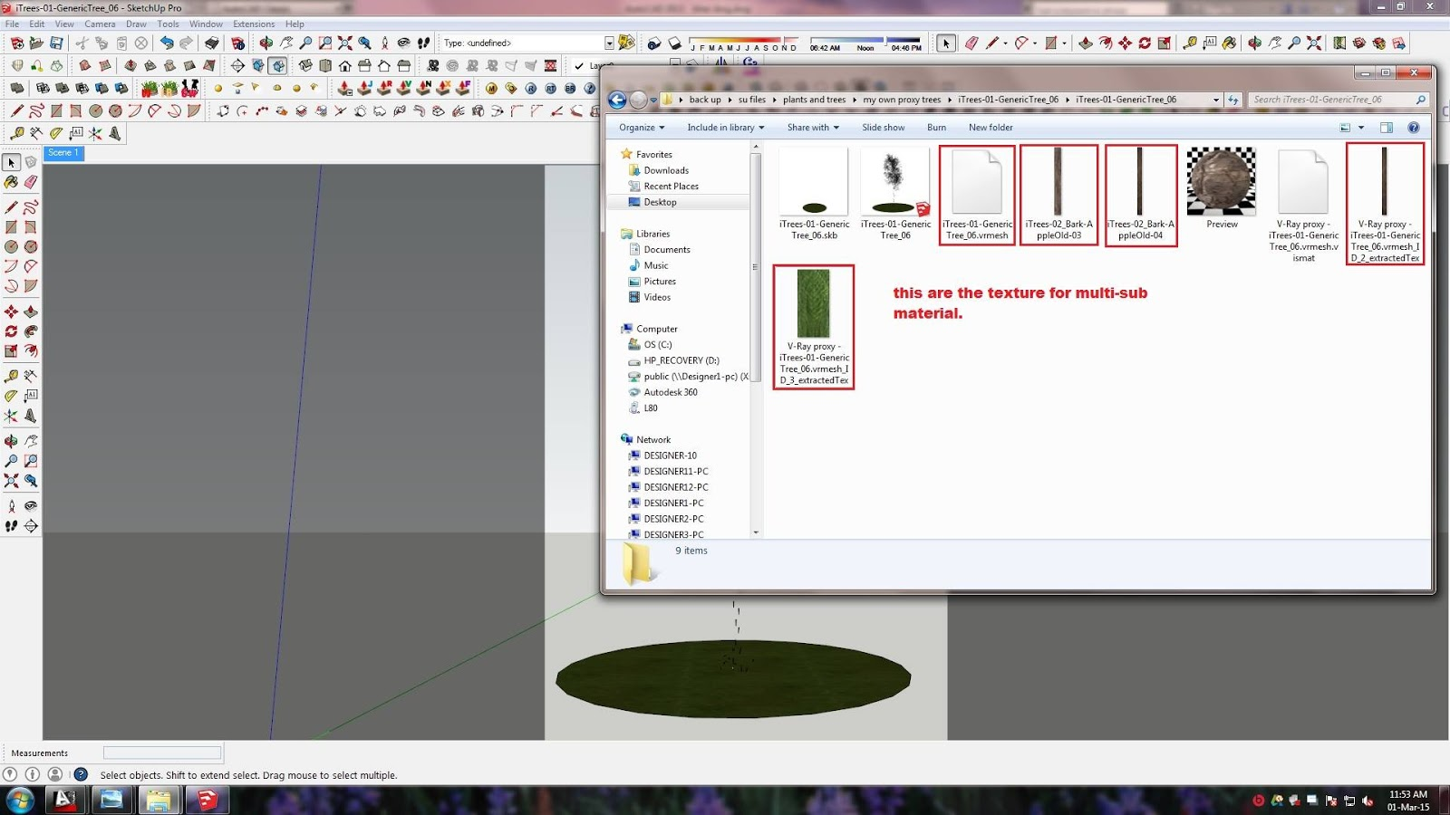 SKETCHUP TEXTURE: Tutorial Vray for Sketchup - How to apply