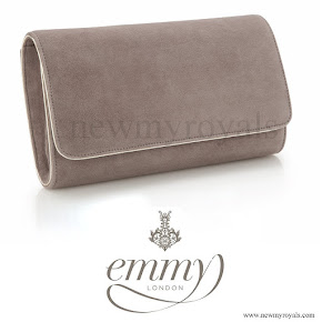 Kate Middleton style Emmy Natasha Grey Suede Clutch