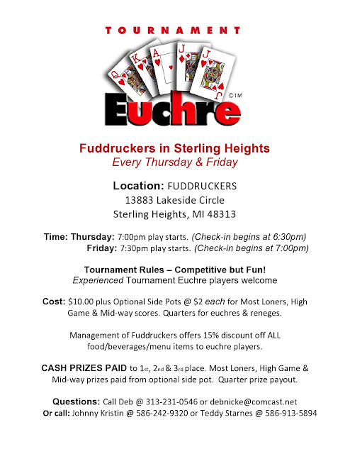 Flyers For Progressive Euchre Tournament Flyer | Www.Gooflyers.Com