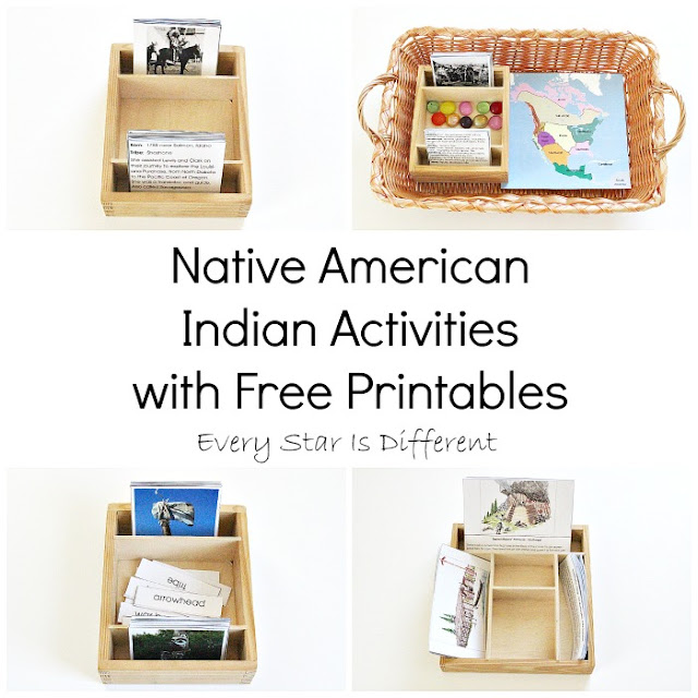 Montessori-inspired Native American Indian Activities with Free Printables