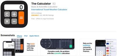 aplikasi kalkulator di iphone