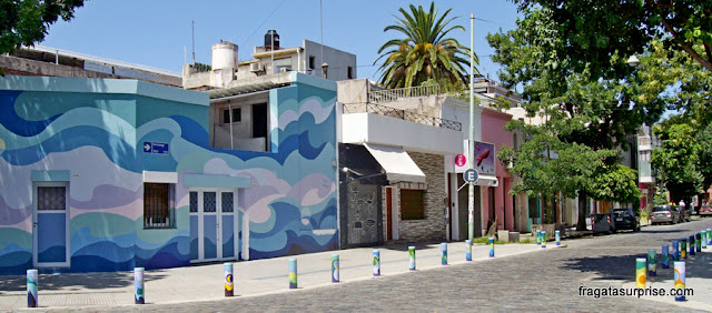 Fachadas grafitadas em Palermo, Buenos Aires