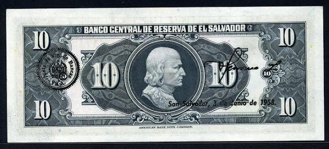 El Salvador billete 10 Colones