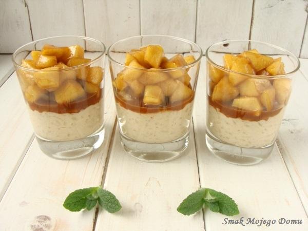 Waniliowy ryż na mleku z karmelizowanymi jabłkami