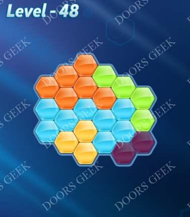 Block! Hexa Puzzle [5 Mania] Level 48 Solution, Cheats, Walkthrough for android, iphone, ipad, ipod